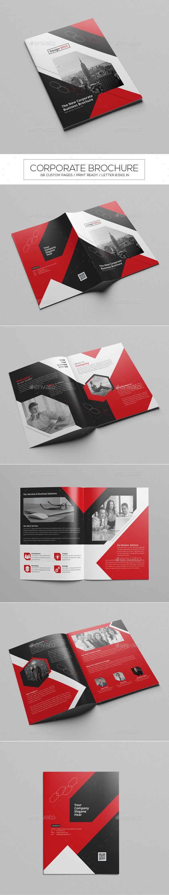 Corporate Brochure  — InDesign Template #inspiration #trend #magazine • Download ➝ https://graphicriver.net/item/corporate-brochure/18614600?ref=pxcr