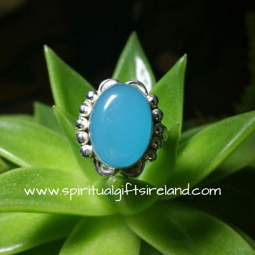 Handcrafted Light Blue Chalcedony Ring €28 Visit our store at www.spiritualgiftsireland.com  Follow Spiritual Gifts Ireland on www.facebook.com/spiritualgiftsireland www.instagram.com/spiritualgiftsireland www.etsy.com/shop/spiritualgiftireland	  We are also featured on Tumblr
