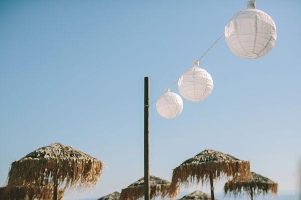Beach Wedding reception decorations | Greek Island Weddings