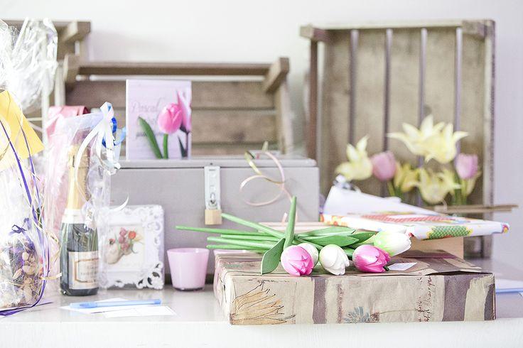 Tulpen bruiloft kadotafel