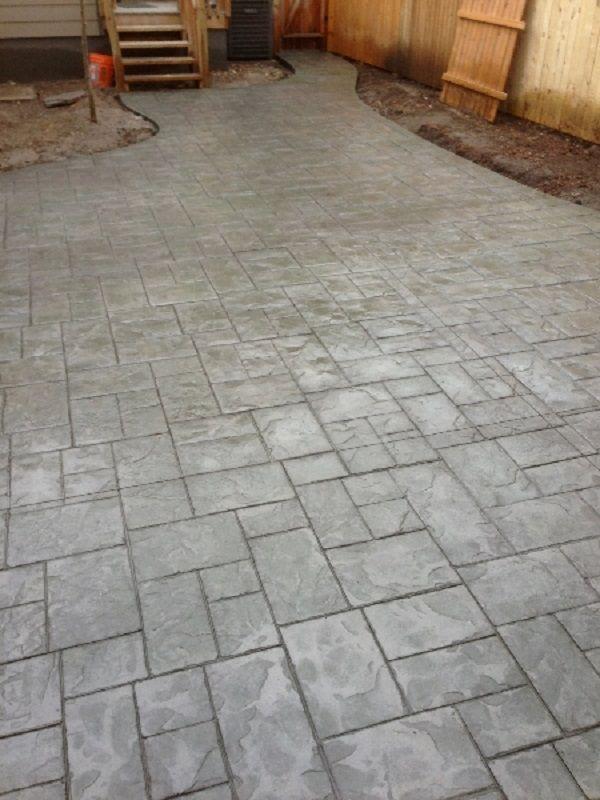Ashlar stamped concrete job by Ryan Diehl