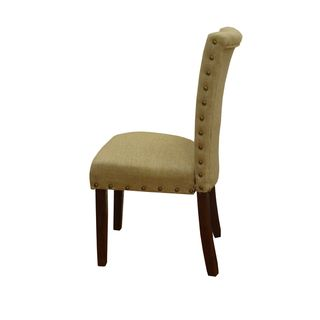 Tan Nail Head Parsons Chairs (Set of 2) | Overstock.com