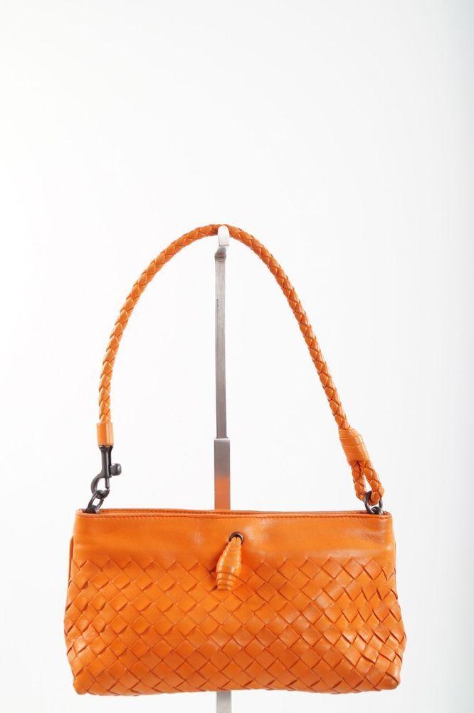 eaab0920fa yy BOTTEGA VENETA MINI INTRECCIATO SHOULDER BAG Coral Orange Woven Leather   BottegaVenetaDESIGNER  ShoulderBag