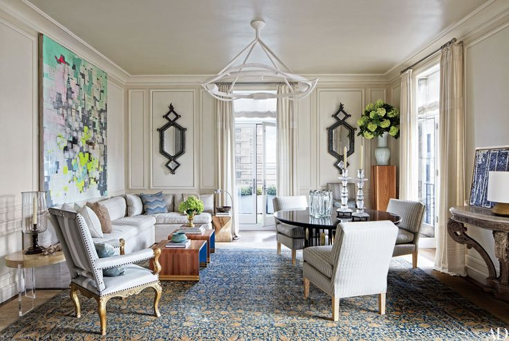 Mark Bradford mixed-media  23 Luxury Penthouses Photos | Architectural Digest