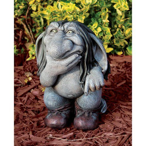 ON SALE! Pondering Sylvester  the Cynical Gnome Troll Statue