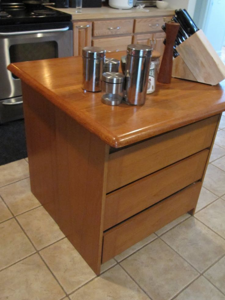 Sew Many Ways...: Colleen's Corner...Make A Quick Kitchen Island. Add casters for a roll-about