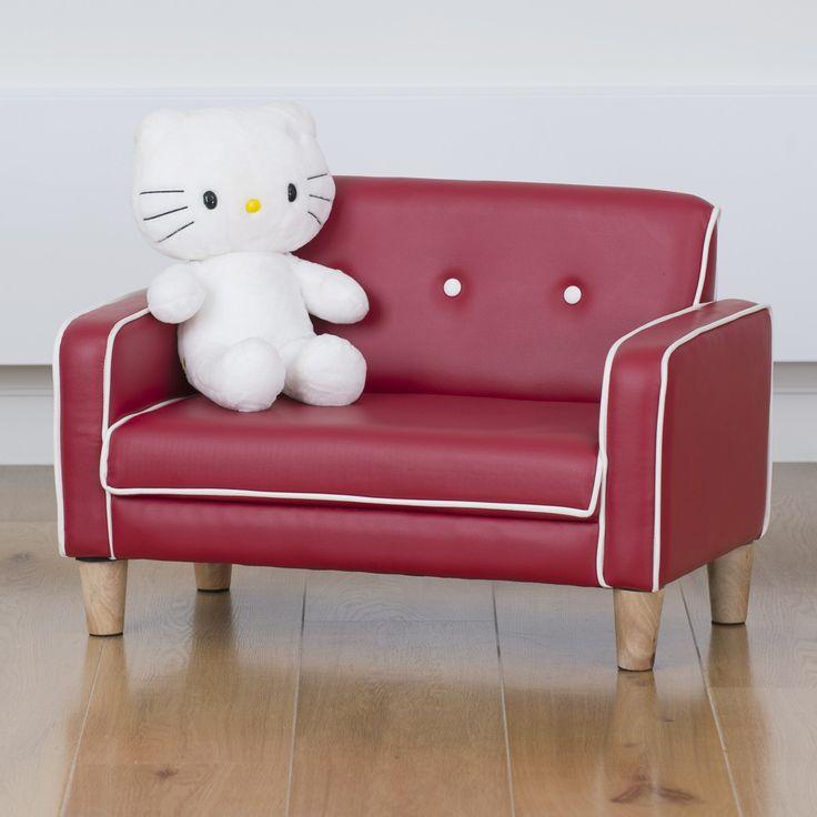 El Nino Kids Sofa - Fire Engine Red | $99.00