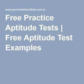 Free Practice Aptitude Tests | Free Aptitude Test Examples