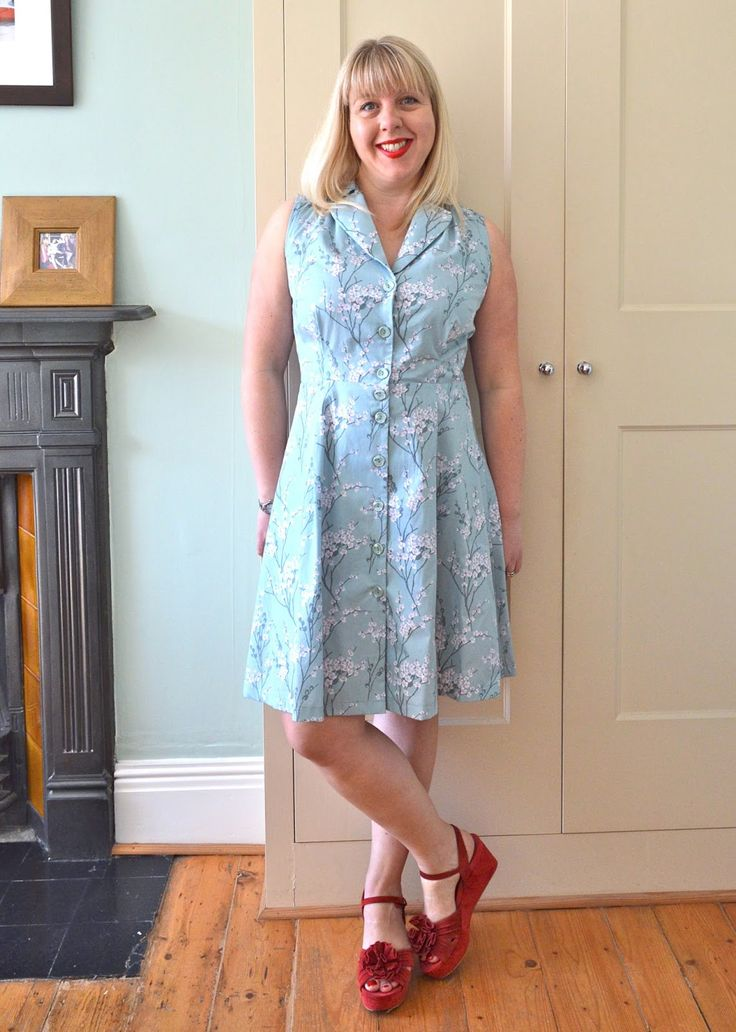 Handmade jane sew over it vintage shirt dress shirt