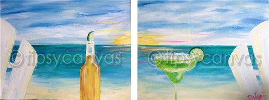 Double beach canvas