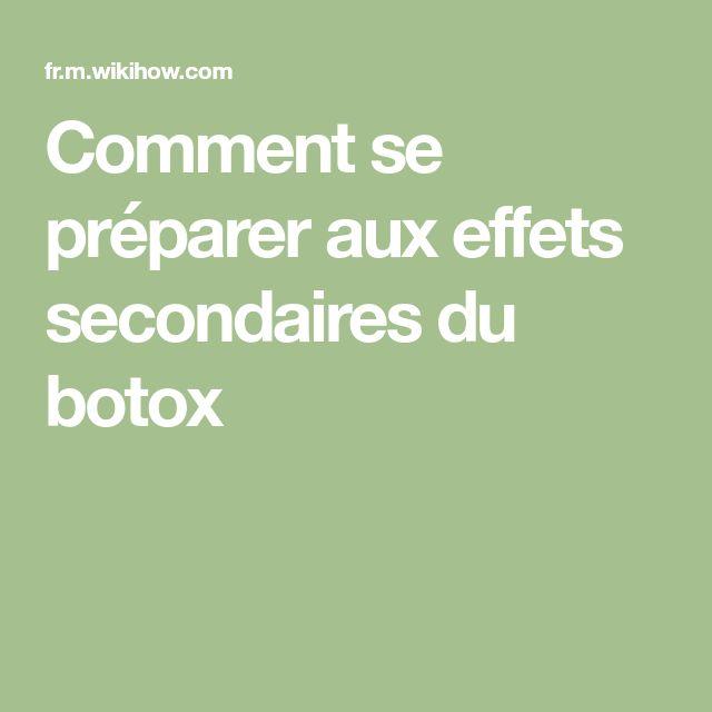 Comment se préparer aux effets secondaires du botox
