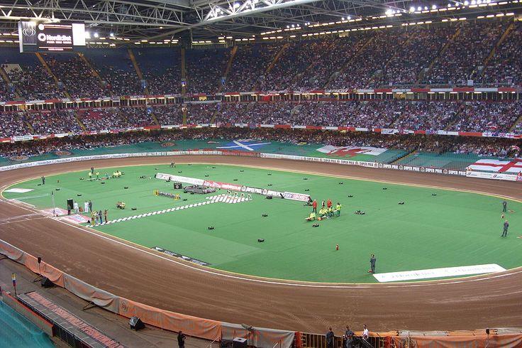 """""""Millennium Stadium"""". O 'teto' é deslizante, móvel. # Cardiff, País de Gales.l."""