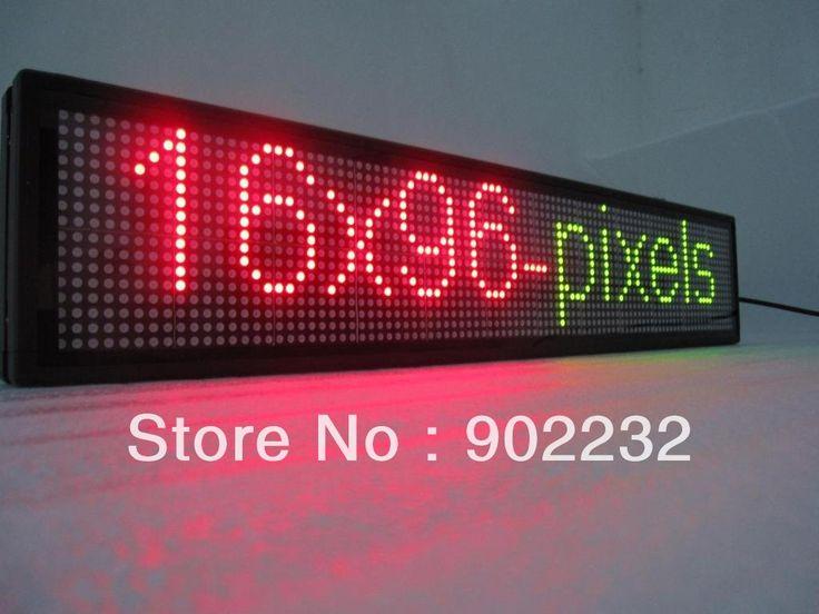Good  pixels LED INDOOR WINDOW SING TRI COLOR display shop information screen