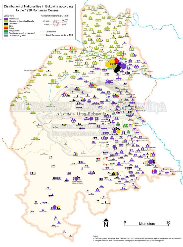 Bucovina - localităţi