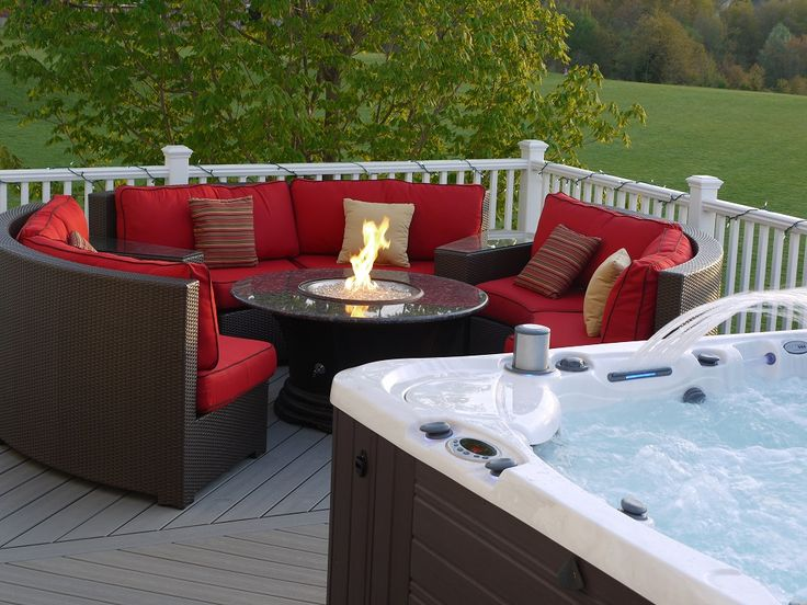 Firepit Hot Tub Patio   Google Search | Dream Home | Pinterest | Hot Tub  Patio, Hot Tubs And Fire Pits