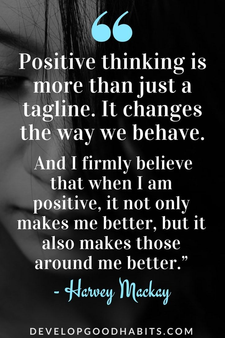 Of thinking positive quotes