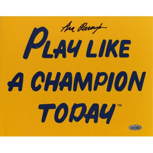 """Parseghian, """"Play like a champion today"""""""