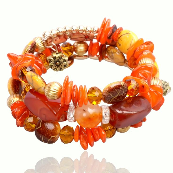 Ten Style Fashion Imitation ► Gemstone Jewelry Charm Bracelet ᐃ Handcraft Multilayer Natural Stone Resin bracelet bangles For WomenTen Style Fashion Imitation Gemstone Jewelry Charm Bracelet Handcraft Multilayer Natural Stone Resin bracelet bangles For Women