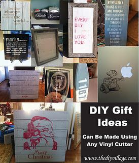 DIY gift ideas that can be made using any vinyl cutter i.e. Cricut or Silhouette Cutter