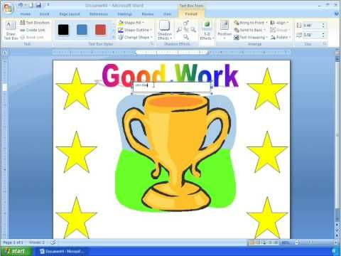 Word 2007 Tutorial 17 - Making A Certificate With A Template - make a certificate in word