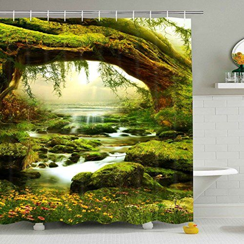 Bathroom Shower Curtain Nature Landscape Shower Curtains Https
