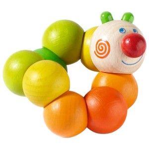 Haba 2646 - Drewniany Gryzak Otti z Motywem Ślimaczka dla dzieci od 10 miesięcy. Zabawka sprawdza się jako gryzak i zabawka manualna