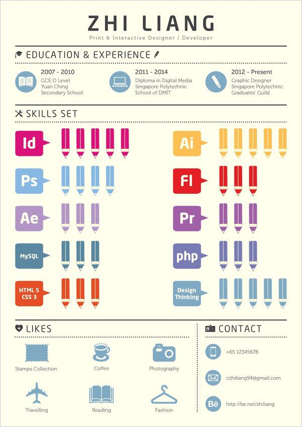 Simple Resume Example of Graphic Designer 10 Interesting & Simple Resume Examples You Would Love To Notice