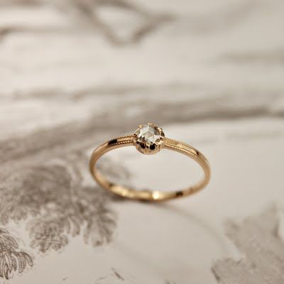 Love the delicate band with just one round stone. Delicate + Unique Wedding Jewellery – RUST | London Bride Blog | Creative Wedding Planning + Inspiration