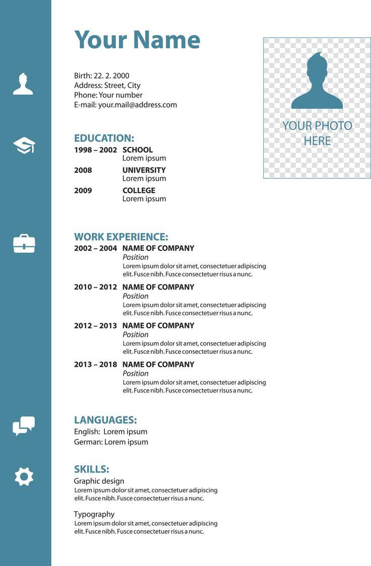 Blank resume forms free printable resume templates