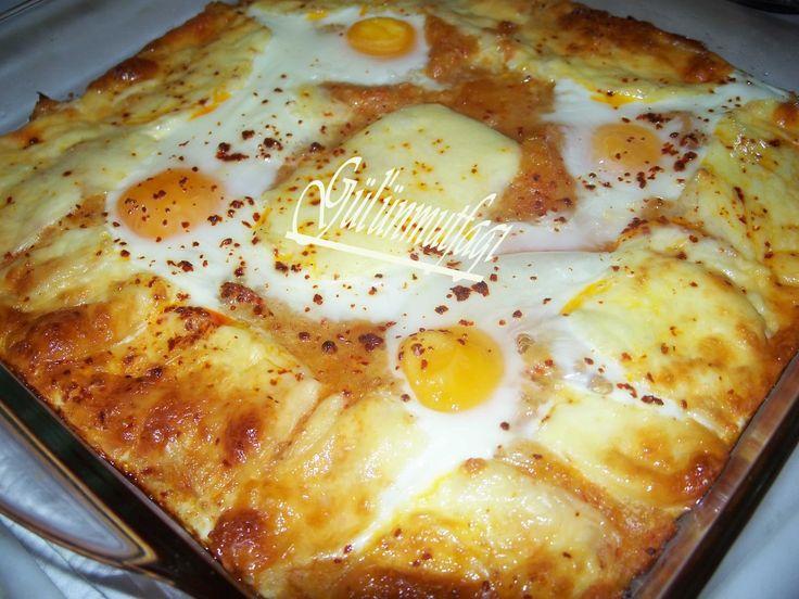 yumurtalı kaşarlı patates