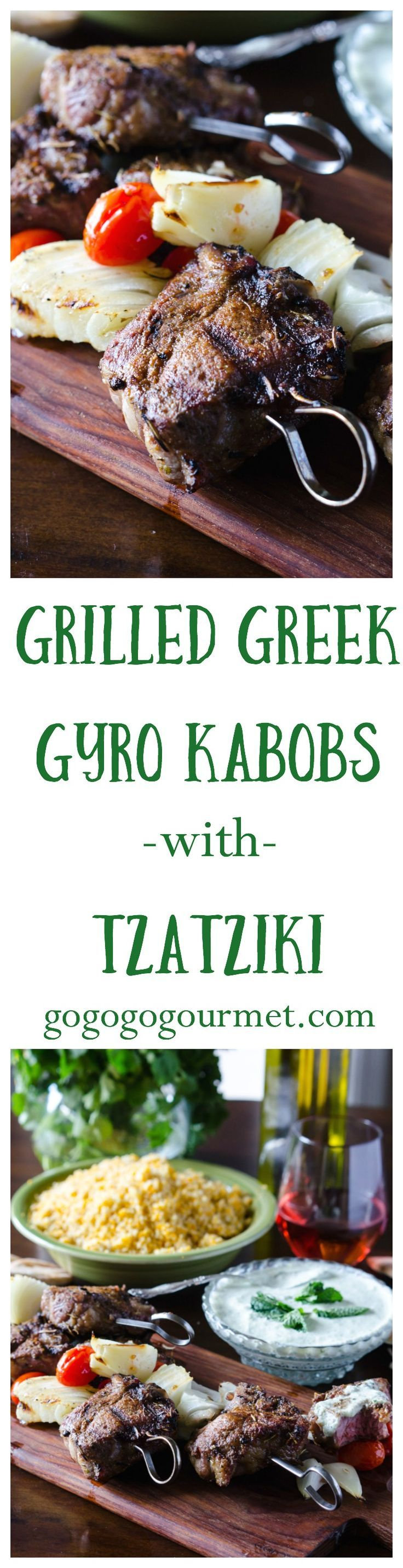 If you love a good gyro, you're going to LOVE this! Gyro seasoning is rubbed on lamb chops, then grilled kabob-style with tomatoes and onions. Don't forget the homemade Tzatziki sauce! Perfect as an appetizer OR dinner. | Go Go Go Gourmet @gogogogourmet