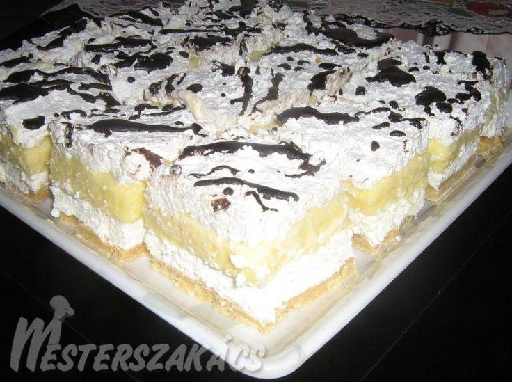 Hozzávalók  Az első réteghez:  25 dkg édes keksz (darálva vagy összetörve)  10 dkg porcukor átszitálva  15 dkg margarin (szobahőmérsékletű)  1 tasak vaníliacukor   A második réteghez:…