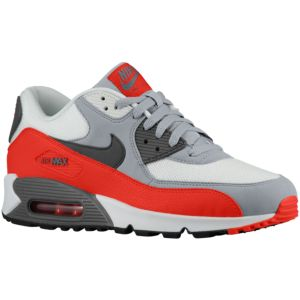 Nike Air Max 90 - Men's - Wolf Grey/Challenge Red/Summit White/