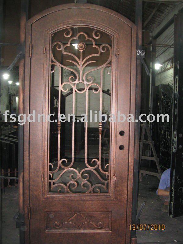 Puerta de hierro forjado interior puertas de hierro for Puertas de hierro forjado para casas
