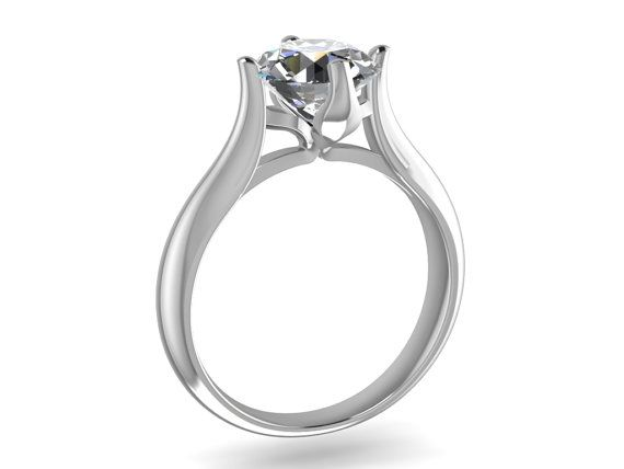 Solitaire Diamond 3D CAD STL File Format Ring by PiettroJewelry, $18.00