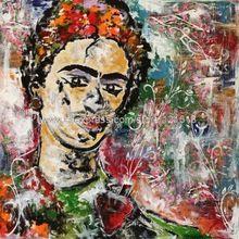Frida Karışık Medya canvass üzerinde yağ Yüzü Un D El Yapımı brezilya Yağlıboyalar Tuval Zemin Resimleri Duvar Yüksek Kalite(China (Mainland))