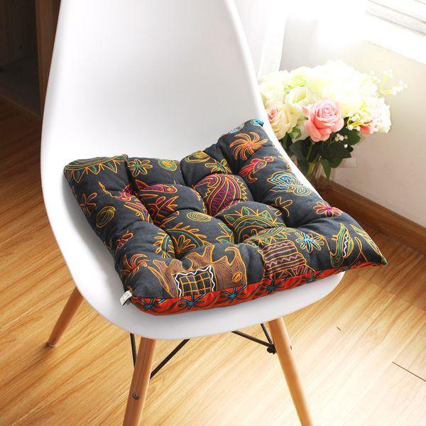 Юго-Восточная Азия Таиланд Ветер хлопок подушки утолщение обеденный стул подушки офис ретро экзотических студентов ткани подушки