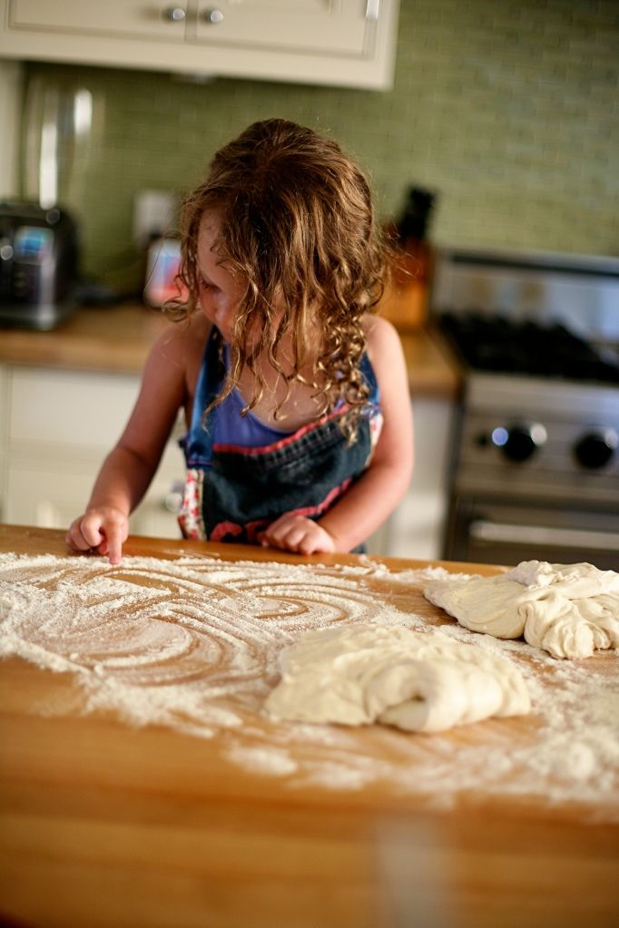 Kids in the Kitchen- family pizza night