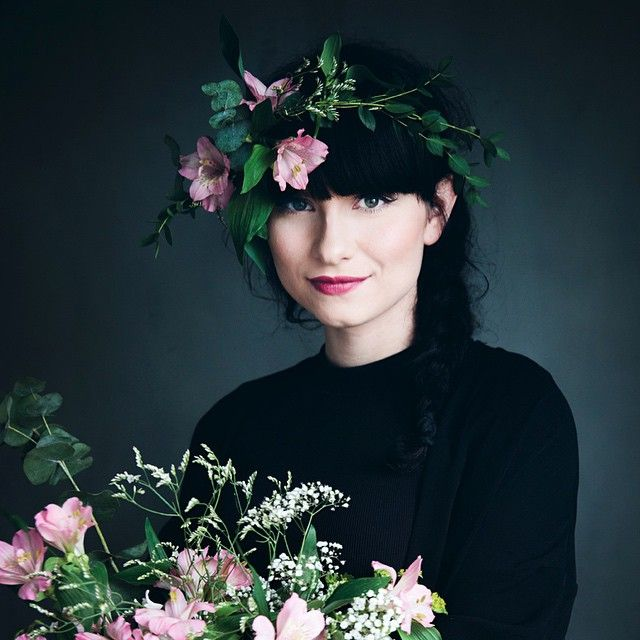 A self portrait with flowers for @the_greengallery, because flowers make everything better. Read my interview on thegreengallery.com