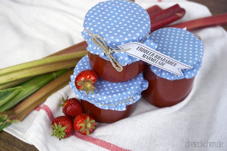 Fruchtige Erdbeer-Rharbarber-Marmelade