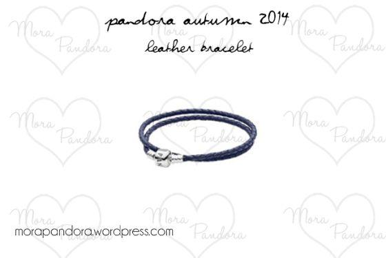 Pandora Autumn 2014 - Dark Blue Double Leather Bracelet.