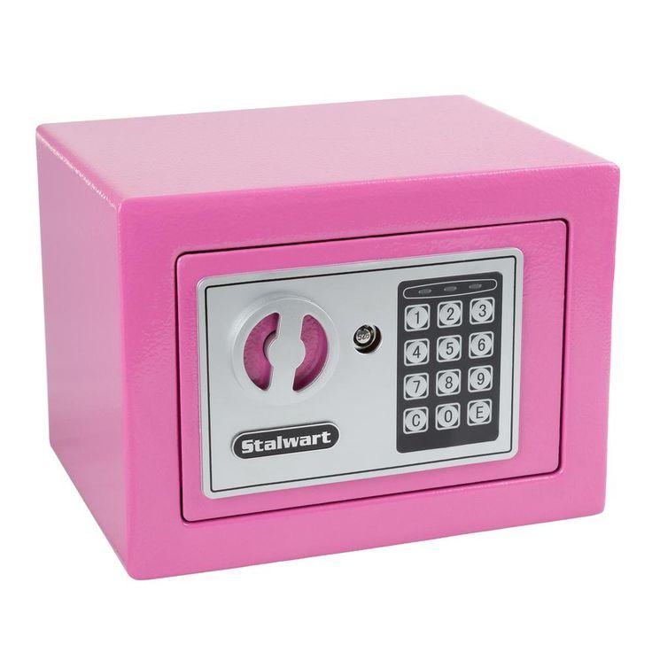 0.16 cu. ft. Deluxe Digital Lock Steel Safe, Pink