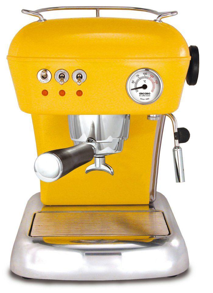tolle kaffeemaschine in gelb