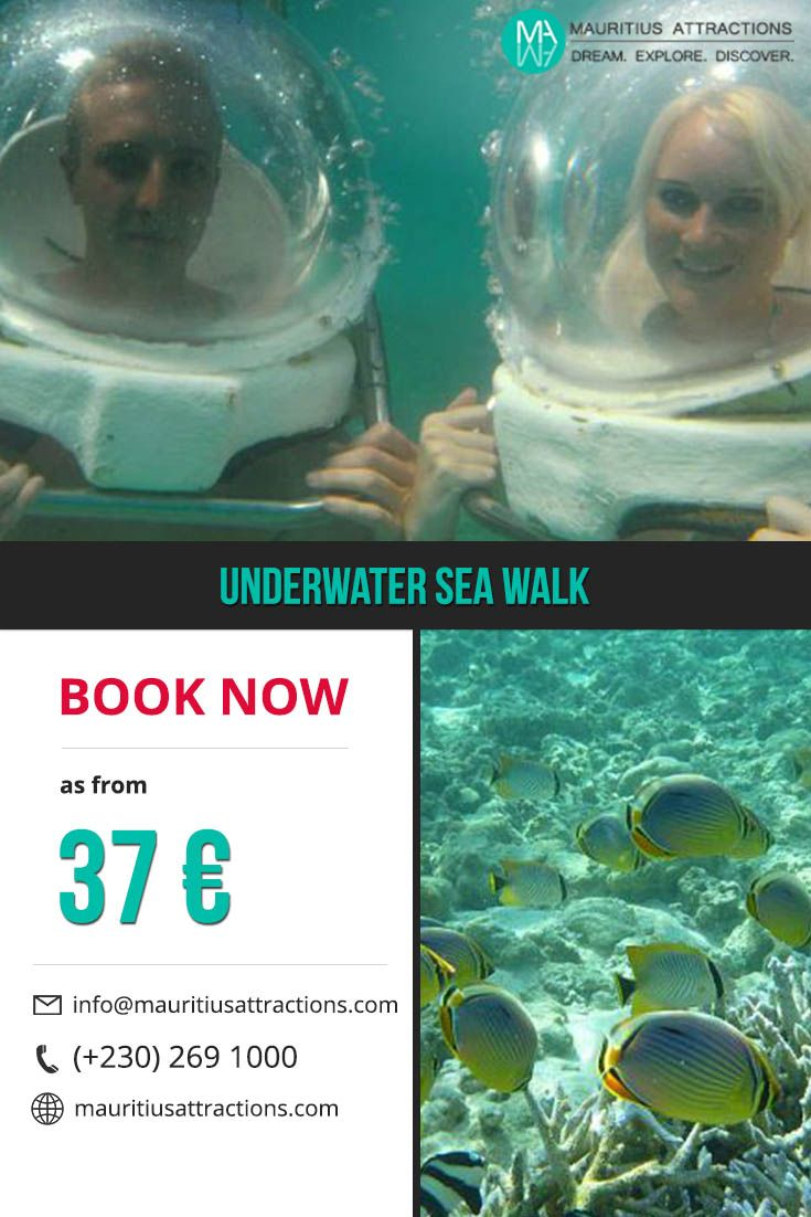 Underwater Sea Walk Excursion ! Book Now on http://mauritiusattractions.com/underwater-walk-p-47.html as from  37€.