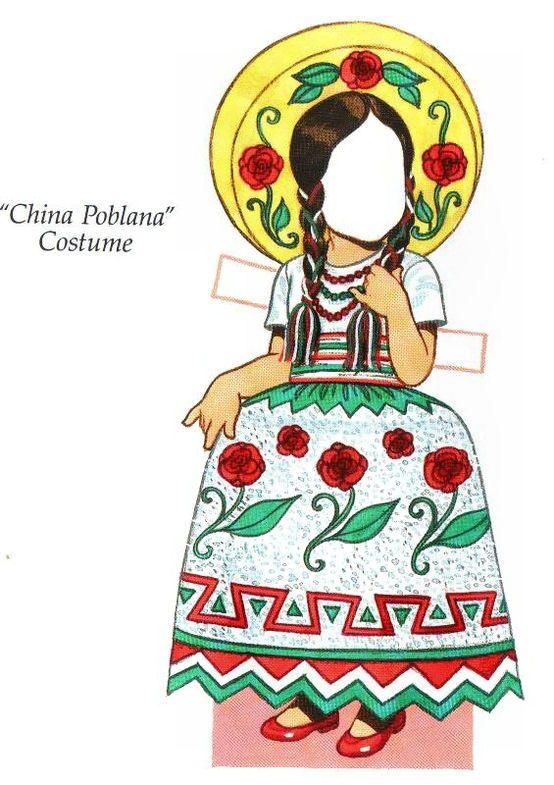 China Poblana  costume These are the traditionally accepted costumes or dresses of the various regions of Mexico from generations past up to currently