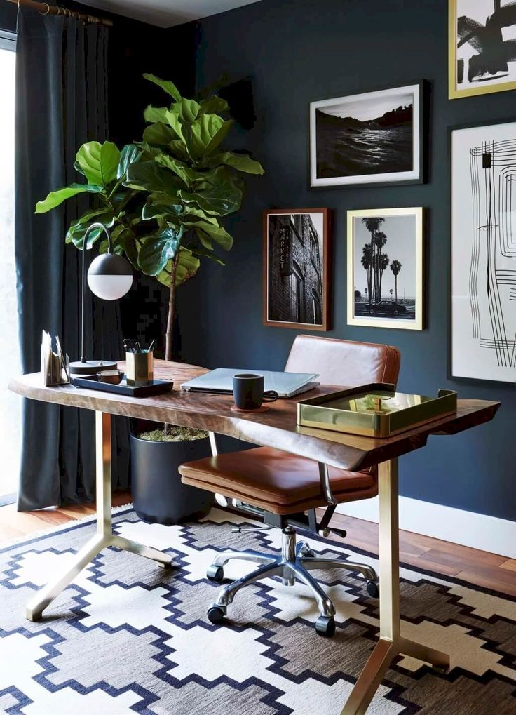 Awesome 70 Simple Home Office Decor Ideas for Men https://roomaniac.com/70-simple-home-office-decor-ideas-men/ #officedesignsformen
