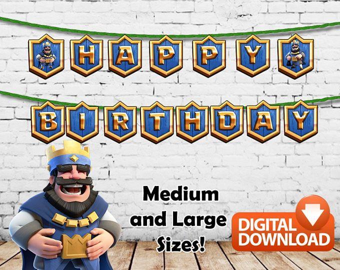 Choque Royale carteles de feliz cumpleaños para imprimir