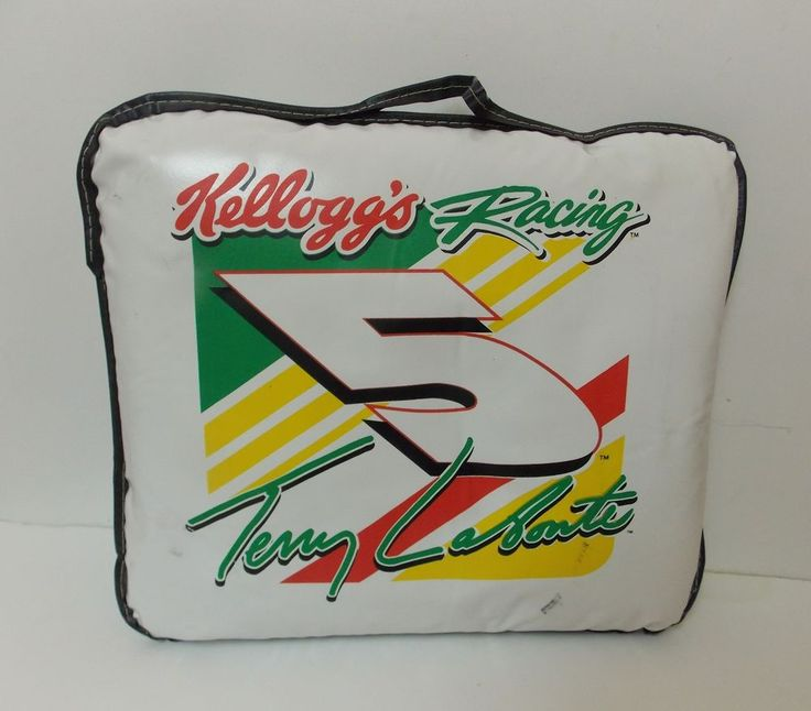 NASCAR STADIUM SEAT CUSHION TERRY LABONTE #5 CARRYING HANDLE KELLOGG