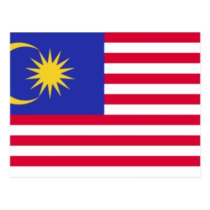 Flag of Malaysia Postcard - holiday card diy personalize design template cyo cards idea