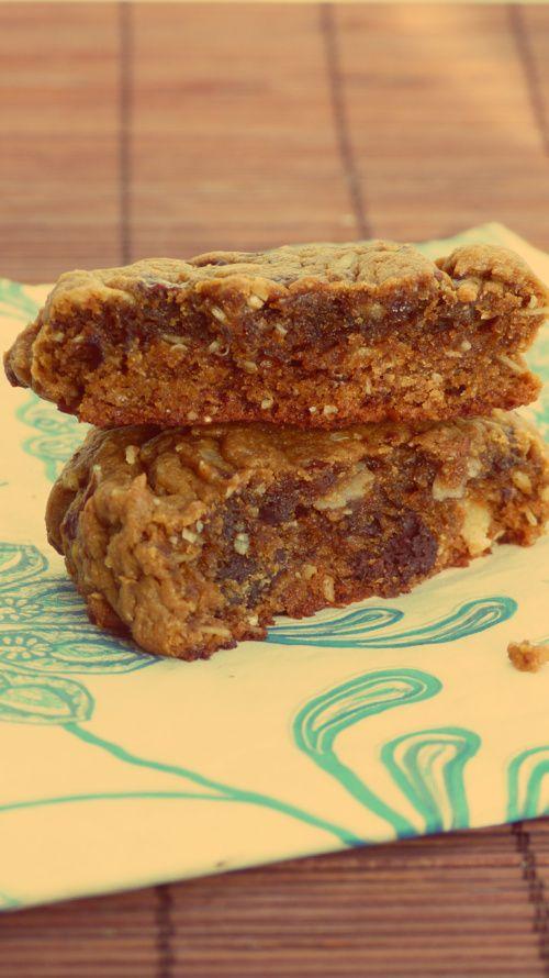 Cookies flocons d'avoine et beurre de cacahuètes (sans beurre ni farine)